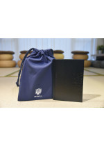 Hardcover Notebook with Navy Blue Canvas Drawstring Bag 硬皮筆記本連海軍藍索繩布袋